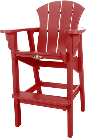 Pawleys Island Hammocks SRHDC1RD Sunrise High Dining Chair-Red (W 29 x H 49.5 in.) - Peazz.com