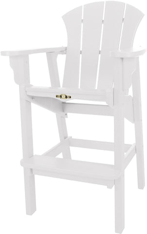 Pawleys Island Hammocks SRHDC1WH Sunrise High Dining Chair-White (W 29 x H 49.5 in.) - Peazz.com