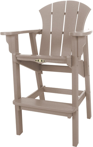 Pawleys Island Hammocks SRHDC1WW Sunrise High Dining Chair-Weatherwood (W 29 x H 49.5 in.) - Peazz.com