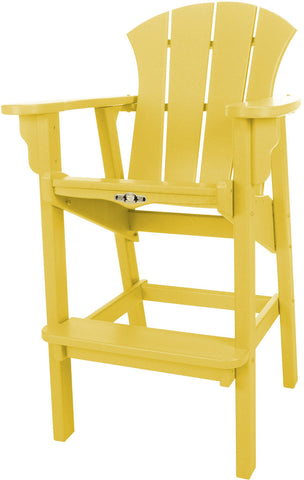 Pawleys Island Hammocks SRHDC1YL Sunrise High Dining Chair-Yellow (W 29 x H 49.5 in.) - Peazz.com