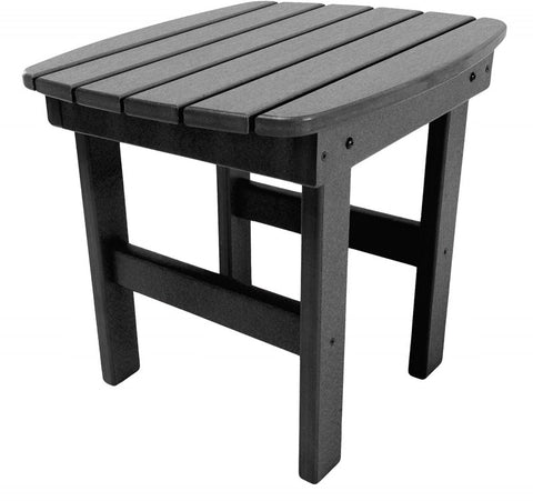 Pawleys Island Hammocks ST1BLK Side Table-Black (W 17 x H 39 in.) - Peazz.com - 1