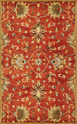 "KAS Rugs Syriana 6009 Sienna Agra Hand-Tufted 100% New Zealand Wool 2'3"" x 7'6"" Runner"