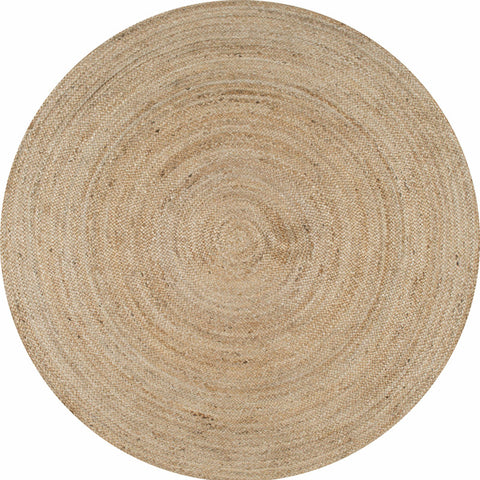 Nuloom TAJT03-404R Natura Collection Natural Finish Hand Woven Rigo Jute Rug - Peazz.com