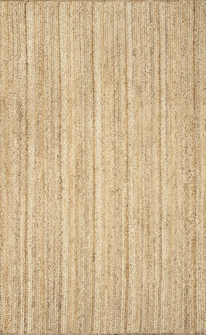 Nuloom TAJT03-508 Natura Collection Natural Finish Hand Woven Rigo Jute Rug - Peazz.com