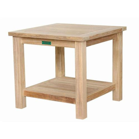 "Anderson Teak TB-222S 22"" Square 2-Tier Side Table - Peazz.com"