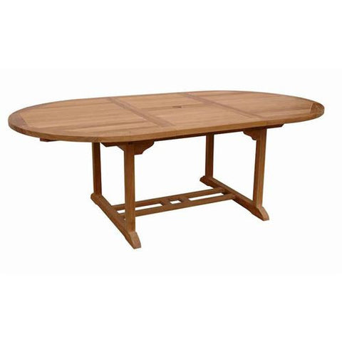 "Anderson Teak TBX-087VT 87"" Oval Extension Table - Peazz.com"