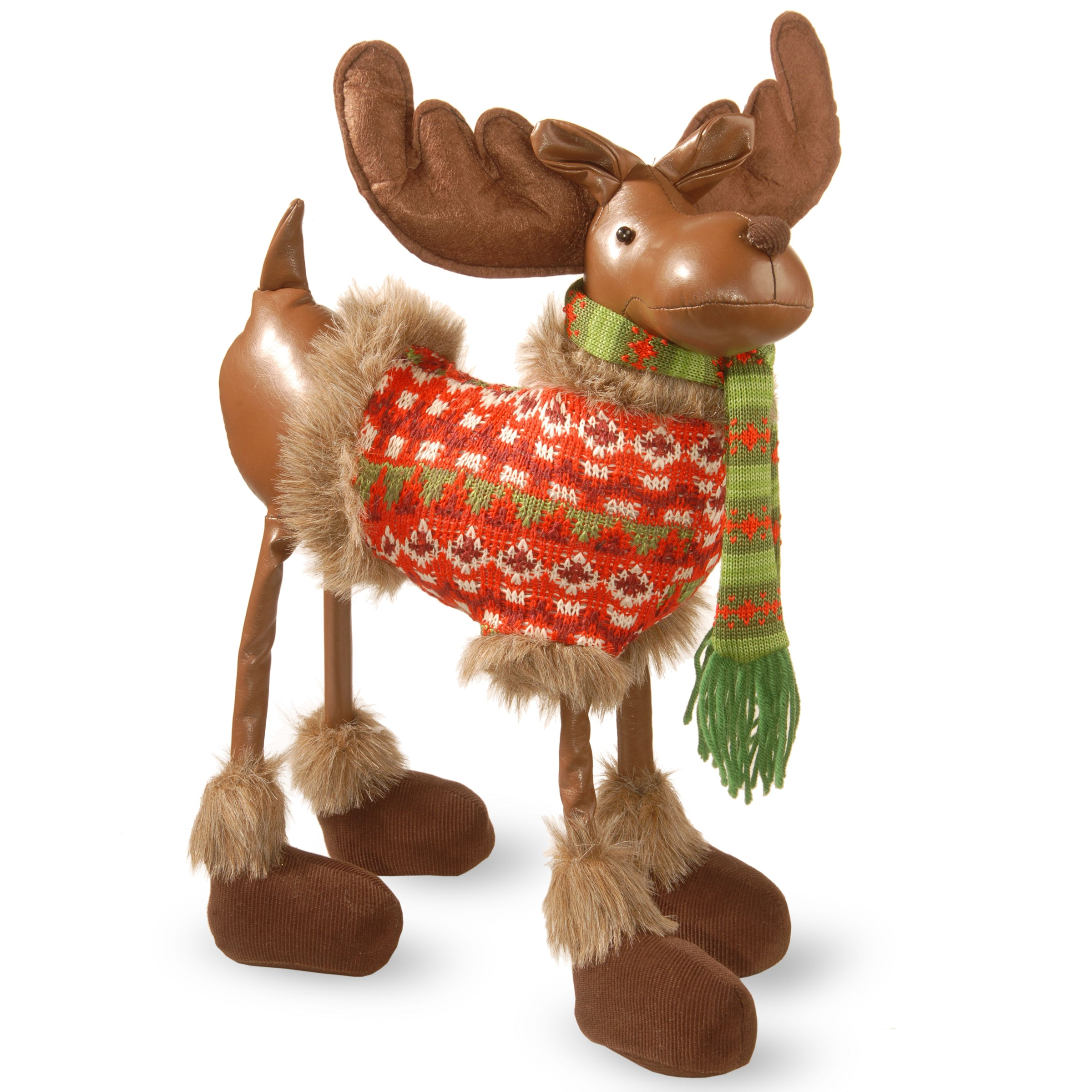 """National Tree TP-F162403 24"""" Moose with Red Jacket"""