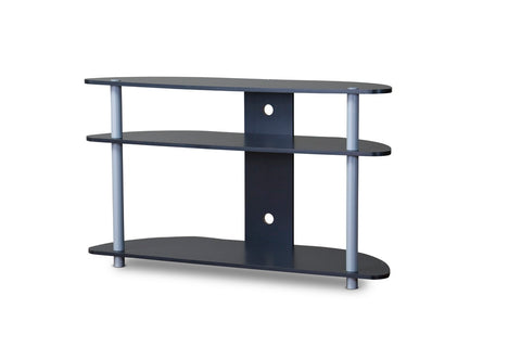 Baxton Studio TR-123 Orbit Black and Silver TV Stand