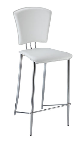 Chintaly TRACY-CS-WHT Counter Height Stool ( Set of 2 )