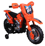 Vroom Rider VR098 Battery Operated 6V Dirt Bike (Orange) - Peazz.com