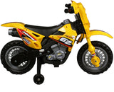 Vroom Rider VR098 6V Battery Operated Dirt Bike (Yellow)
