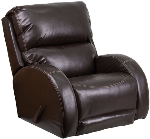 Flash Furniture WA-4990-620-GG Contemporary Ty Brown Leather Rocker Recliner - Peazz.com - 1