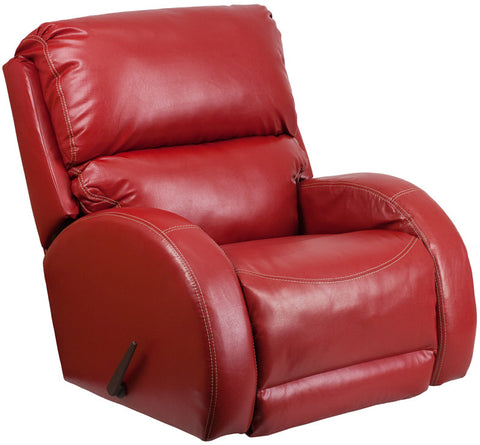Flash Furniture WA-4990-621-GG Contemporary Ty Red Leather Rocker Recliner - Peazz.com - 1