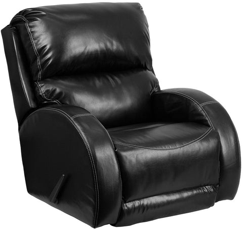 Flash Furniture WA-4990-622-GG Contemporary Ty Black Leather Rocker Recliner - Peazz.com - 1