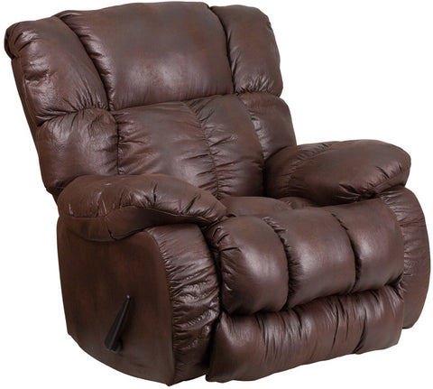 Flash Furniture WA-8230-690-GG Contemporary, Breathable Comfort Padre Espresso Fabric Rocker Recliner - Peazz.com