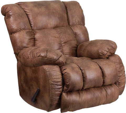 Flash Furniture WA-8230-691-GG Contemporary, Breathable Comfort Padre Almond Fabric Rocker Recliner - Peazz.com