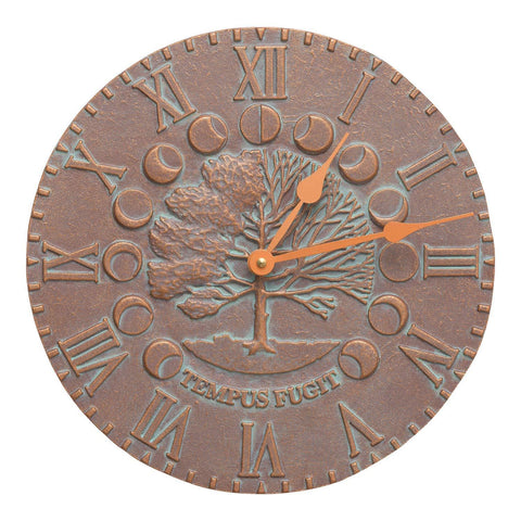 Whitehall Products Times and Seasons Clock, Copper Verdi