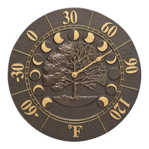 Whitehall Products Times and Seasons Thermometer, French Bronze