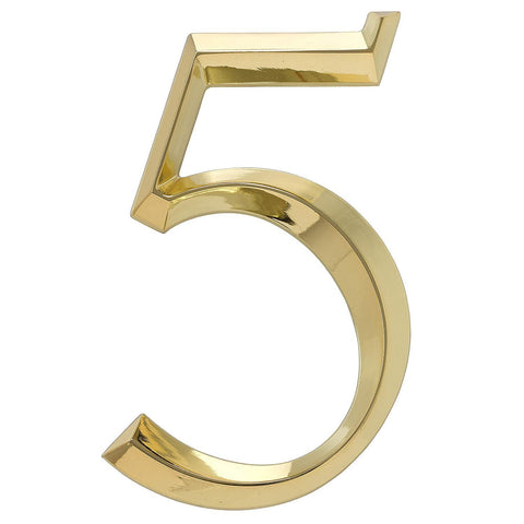 Whitehall Products Classic 6 Inch number 5 Polished Brass, 6 Inch