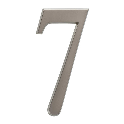 "Whitehall Products DeSign-it Standard Plaque, Number ""7"", Brushed Nickel"