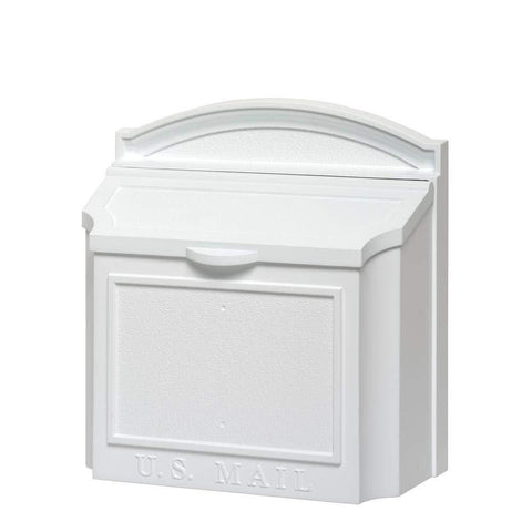 Whitehall Products White Wall Mailbox