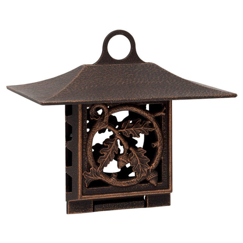 Whitehall Products Oak Leaf Suet Feeder, Oil Rub Bronze