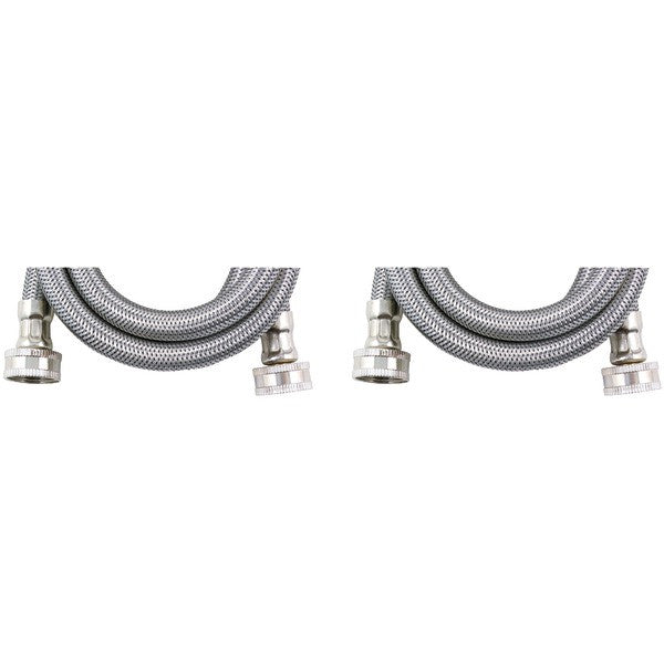 Certified Appliance Accessories Wm72ss2pk Braided Stainless Steel Washing Machine Hose, 2 Pk (6ft)