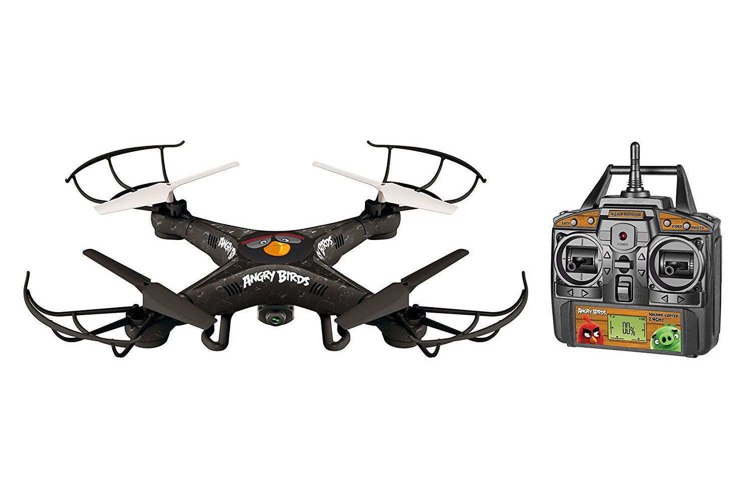 Angry Birds Licensed 4.5-Channel 2.4 GHz Remote Control Camera Drone Squak-Copter - Bomb WTT-33794
