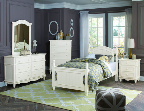 Homelegance B1799T-1 Clementine Collection Color Antique White - Peazz.com - 1