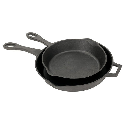 "Bayou Classic 2-pc. Cast Iron Skillet Set: 10"" & 12"" 7451  Skillet"