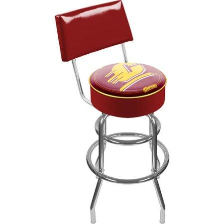 Central Michigan Lrg1100-cm Central Michigan Padded Bar Stool With Back