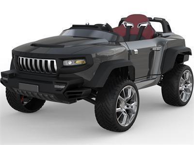 Henes BR-T870-Black Broon T870 4x4 Ride-On Car 24v with Tablet (RC) Black