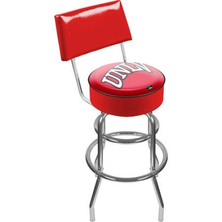 University Of Las Vegas Nevada Lrg1100-Unlv Unlv Padded Bar Stool With Back