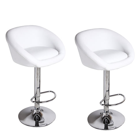 Furnistars White Bar Stools (Set of two)