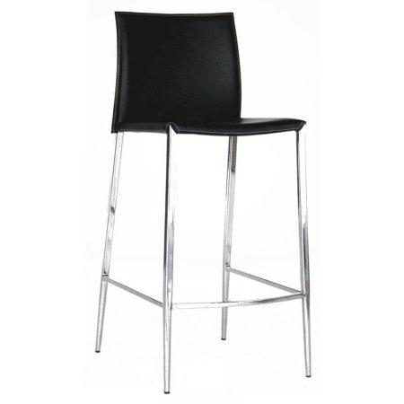 Wholesale Interiors ALC-1899A-75 Black Jenson Black Leather Bar Stool - Set of 2