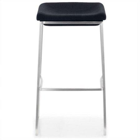 Zuo Modern 300033 Lids Barstool Color Dark Gray Brushed Stainless Steel Finish - Set of 2