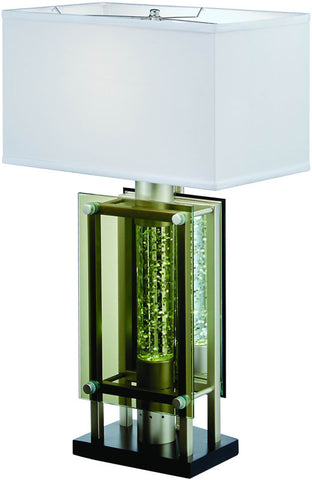 Homelegance H10081 Aura Collection Color Glass / Satin Nickel Metal - Peazz.com - 1