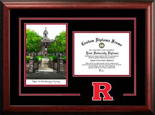 Rutgers Spirit Graduate Frame with Campus Image