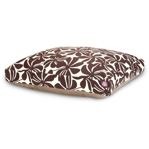 Majestic Pet Products Chocolate Plantation Large Rectangle Pet Bed