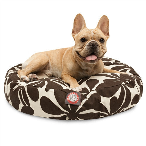Majestic Pet Products Chocolate Plantation Small Round Pet Bed