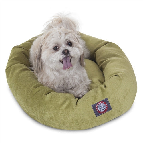 """Majestic Pet Products 24"""" Apple Villa Collection Micro-Velvet Bagel Bed By Majestic Pet Products"""