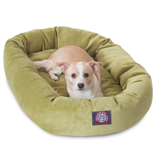 """Majestic Pet Products 32"""" Apple Villa Collection Micro-Velvet Bagel Bed By Majestic Pet Products"""