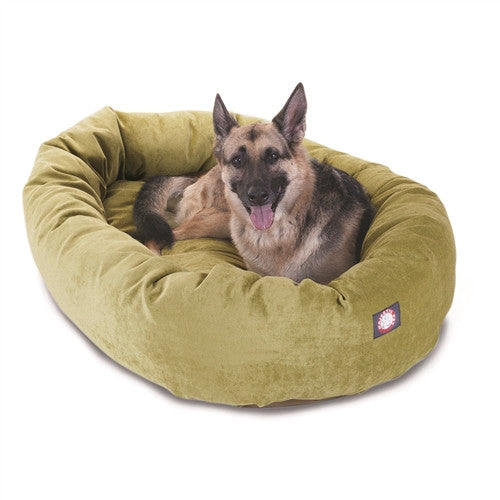 """Majestic Pet Products 52"""" Apple Villa Collection Micro-Velvet Bagel Bed By Majestic Pet Products"""