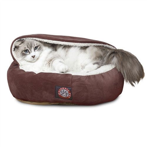 """Majestic Pet Products 18"""" Chocolate Suede Canopy Bed"""