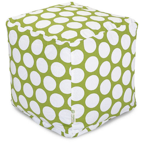 Majestic Home Goods 85907210126 Hot Green Large Polka Dot Small Cube - Peazz.com