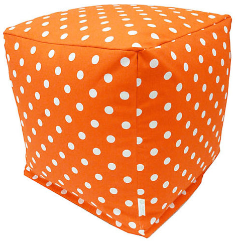 Majestic Home Goods 85907210133 Tangerine Small Polka Dot Small Cube - Peazz.com