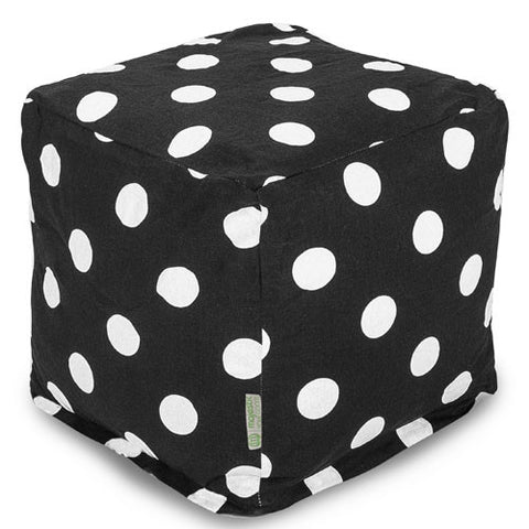 Majestic Home Goods 85907210134 Black Large Polka Dot Small Cube - Peazz.com