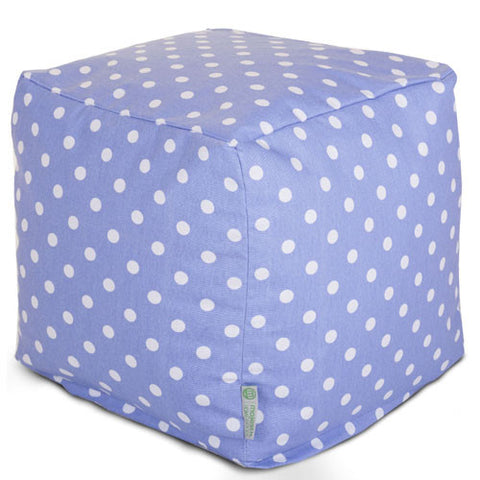 Majestic Home Goods 85907210136 Lavender Polka Dots Small Cube - Peazz.com
