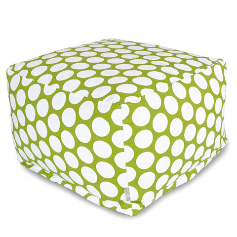 Majestic Home Goods 85907210226 Hot Green Large Polka Dot Large Ottoman - Peazz.com