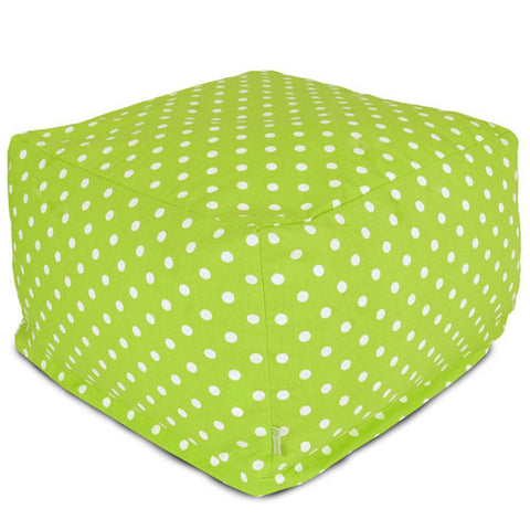 Majestic Home Goods 85907210228 Lime Small Polka Dot Large Ottoman - Peazz.com